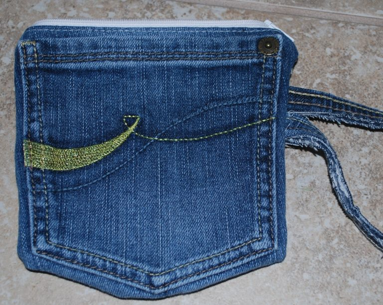 Tutorial: Recycled Jeans Pocket Pouch!