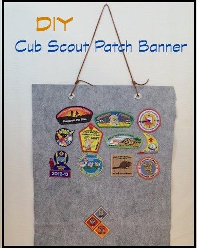 DIY – Cub Scout Patch Banner