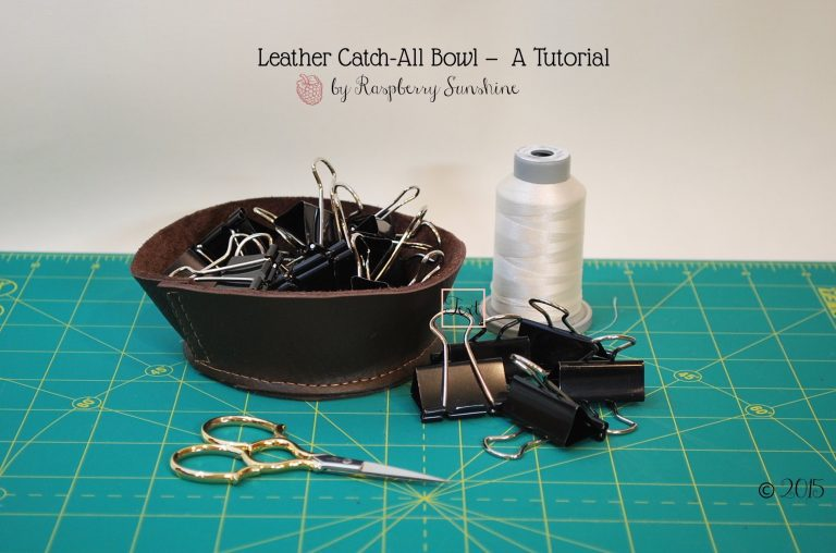Leather Catch-All Bowl – A Tutorial